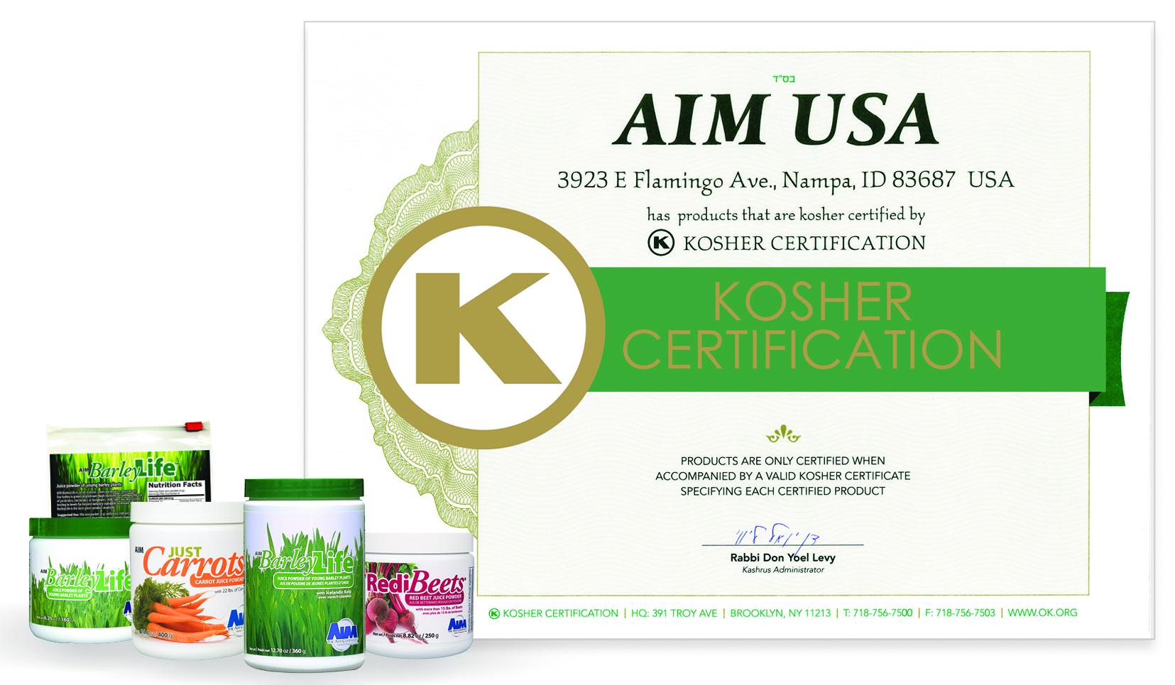 Kosher certified nutritional products the barleylife blog buycottarizona Choice Image