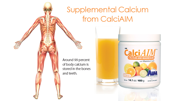 Supplemental calcium from CalciAIM