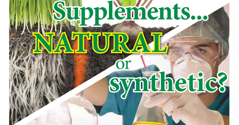 Supplements … Natural or Synthetic?