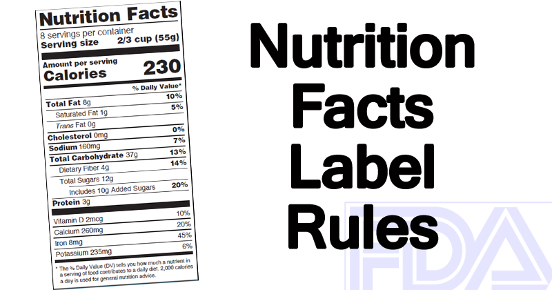 NEW! Nutrition Facts Label Rules