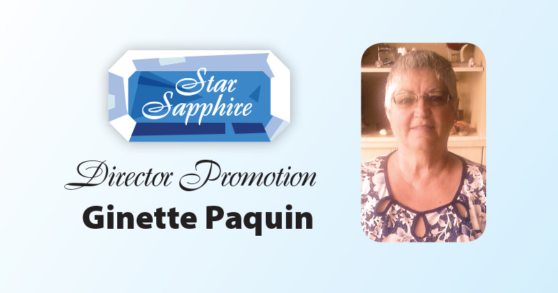 AIM Star Sapphire Direction Promotion: Ginette Paquin
