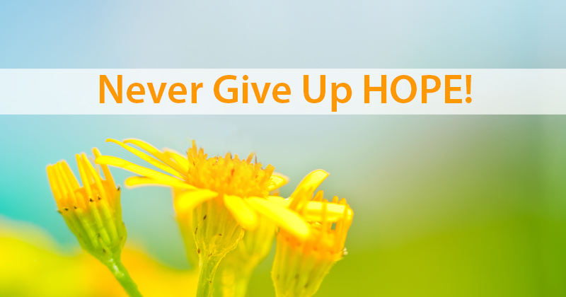 Never Give Up Hope!