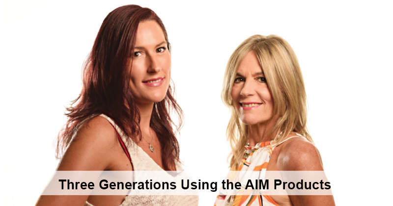Three Generations Using the AIM Products