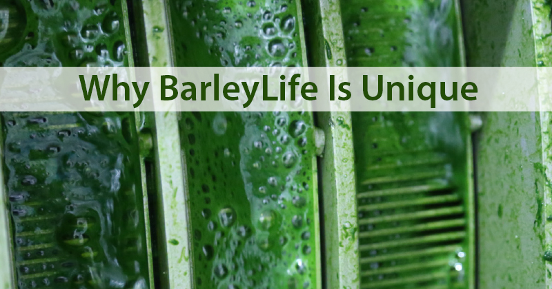 Why BarleyLife Is Unique